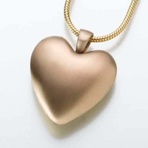 Bronze Heart Cremation Pendant, 111BZ
