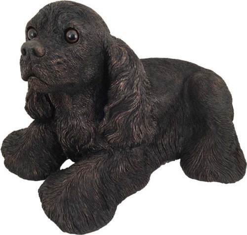 Cocker Spaniel dog bronze look large figurine cremation urn