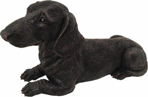 Dachshund dog bronze look large figurine cremation urn