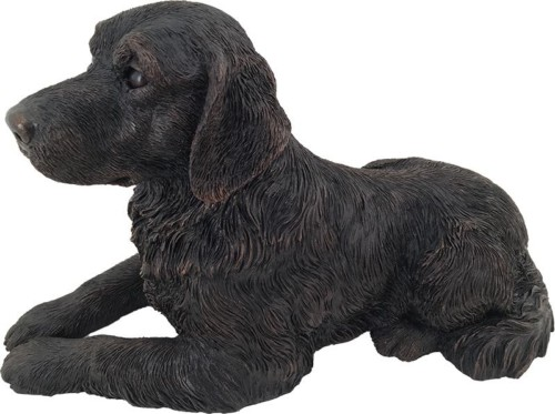 Golden Retriever dog bronze look large figurine cremation urn