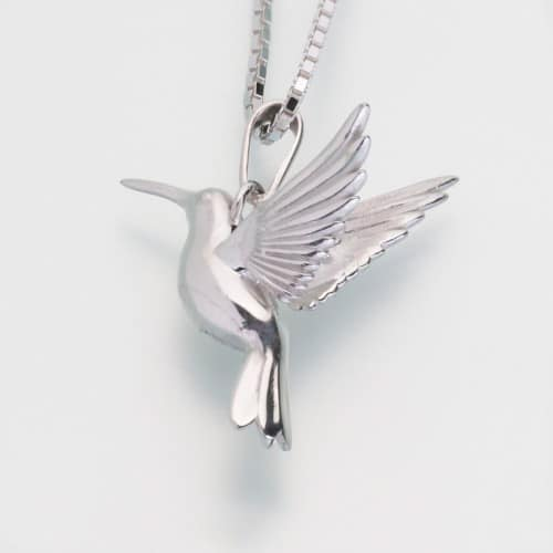 Hummingbird Cremation Pendant, sterling silver, 215SS