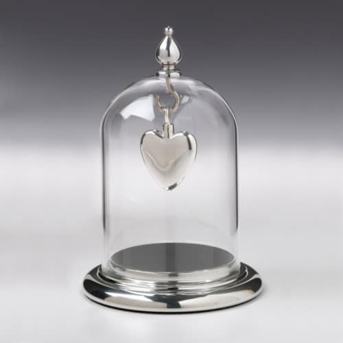 Pewter/ Glass Dome & Pewter Base, pewter, 137PT