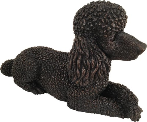 Poodle dog bronze look large figurine cremation urn