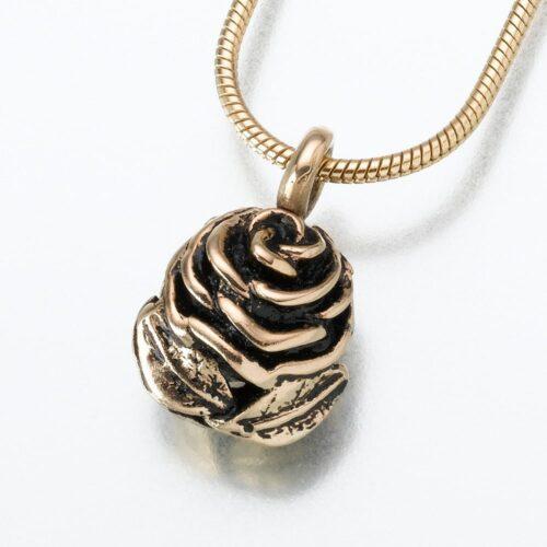 Rose Cremation Pendant, yellow gold, 156YG