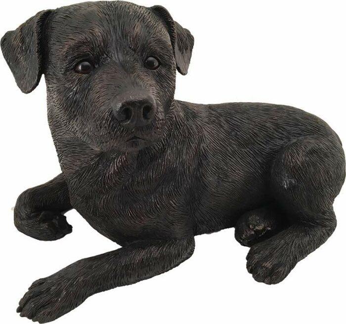 Rottweiler dog bronze look large figurine cremation urn