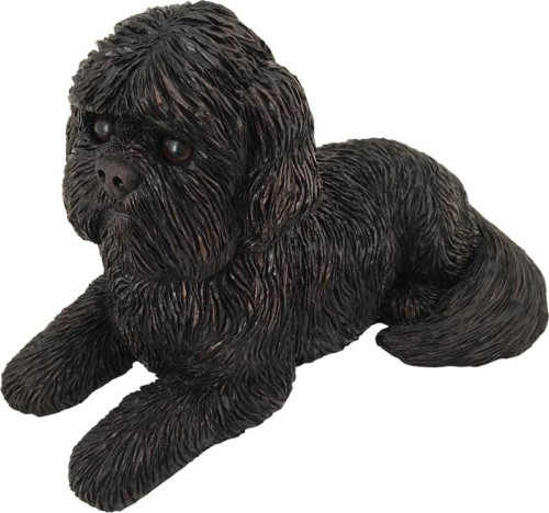 Shih Tzu dog bronze look large figurine cremation urn