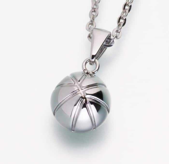 Stainless Steel Basketball Cremation Pendant w/chain 209ST