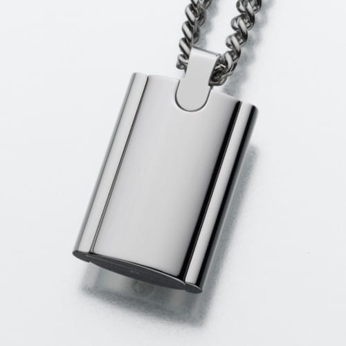 Stainless Steel Flask Cremation Pendant 174