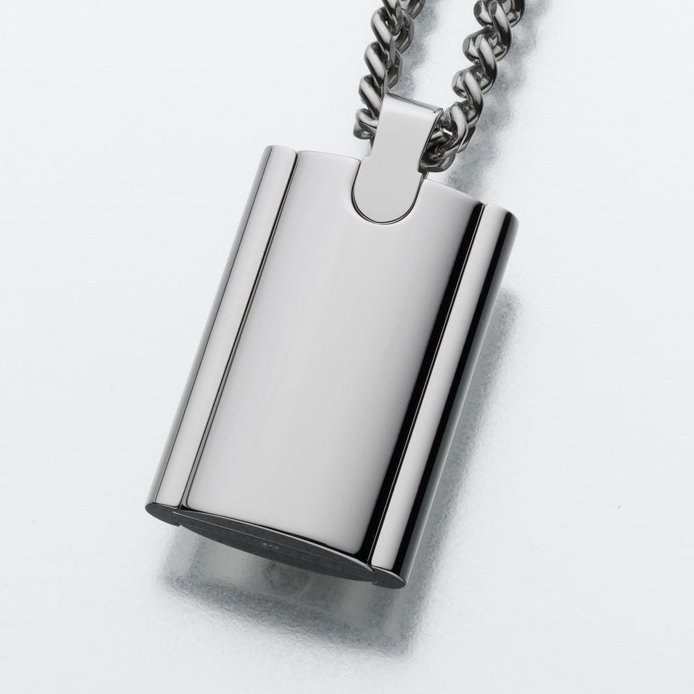 Stainless steel flask cremation pendant mypetforlife for Stainless steel cremation jewelry
