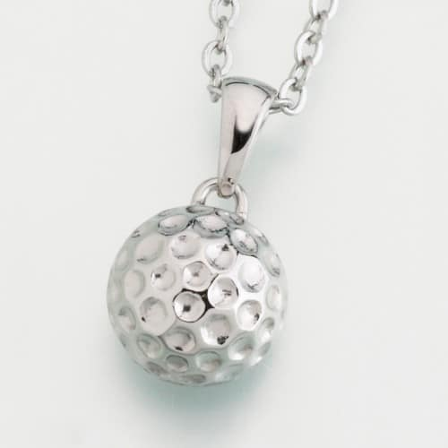 Stainless Steel Golf Ball Cremation Pendant w/chain, 210ST