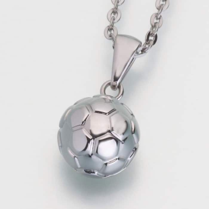 Stainless Steel Soccer Ball Cremation Pendant w/chain, 206ST
