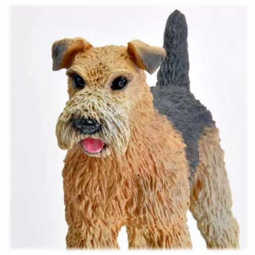 Airedale Figurine for Cremation urn, detail