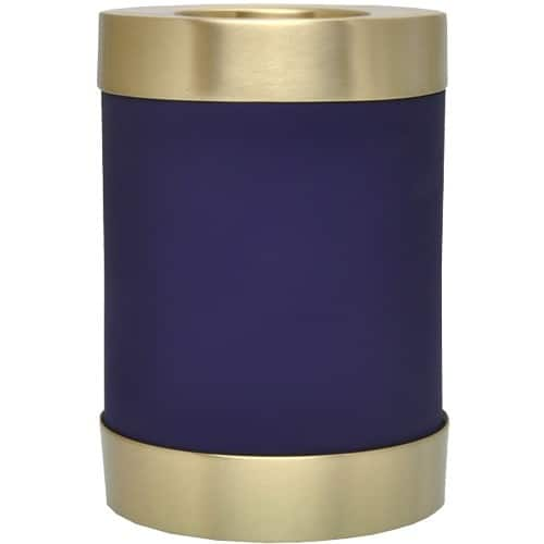 Blue nightfall brass candle holder cremation urn