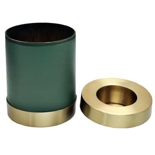 Candle holder cremation urn, sage green