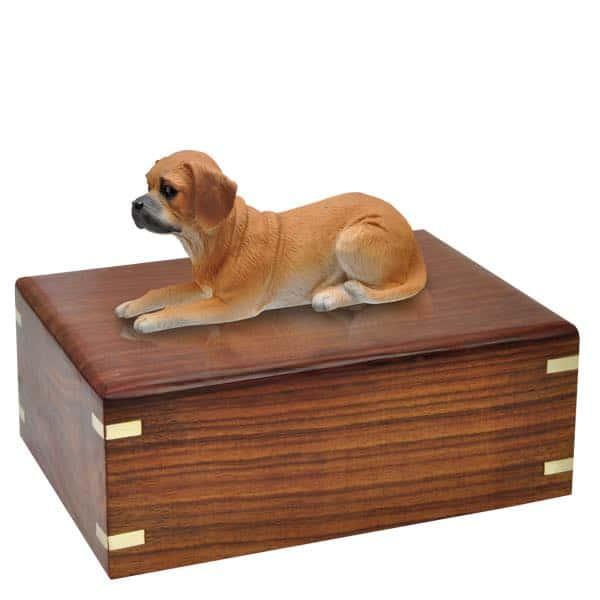 Puggle cremation urn, no engraving