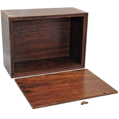 Rosewood photo frame cremation urn, bottom view