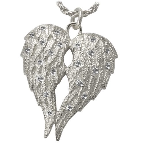 My Angel Companion Cremation Memorial Pendant, sterling silver
