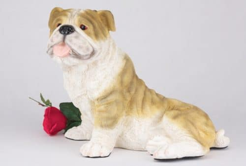 Bulldog pet dog cremation urn figurine