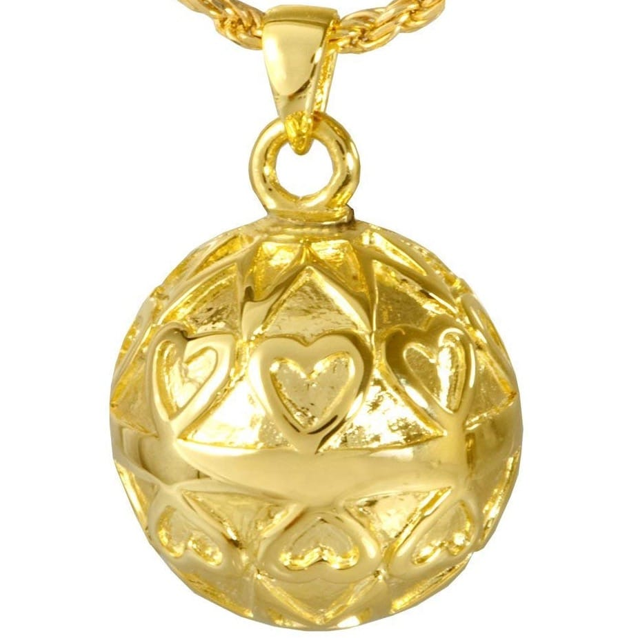 Eternal Sunshine Memorial Cremation Pendant, 14k gold plated