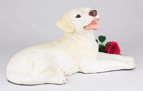 Yellow Lab Labrador Retriever pet dog cremation urn figurine