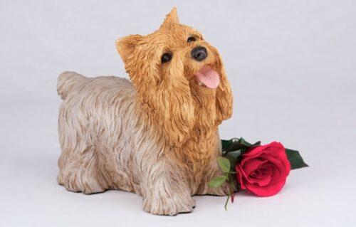 Yorkie Terrier pet dog cremation urn figurine