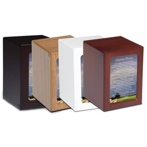 Rainbow Bridge MDF wood photo holder pet memorial urn, medium assortment